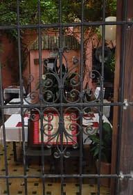 Restaurant in Santa Cruz. Jewish quarter. Seville. Juderia.