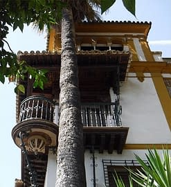 Balcony in Seville. The inspiration for Romeo and Juliet.