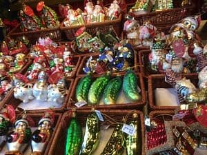 Its christmas at the market.