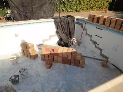Bricks for pool steps.