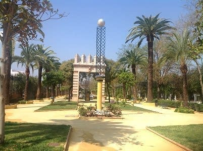 Park and gardens in February southern Spain.