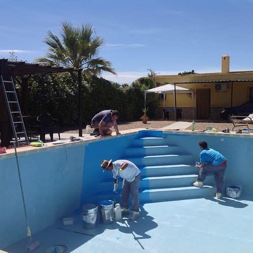 Pool paint job.