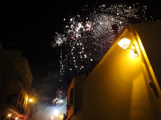 Fireworks in the centre of El Nacarino.