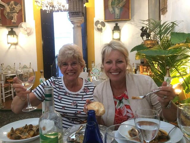 Jenny and Debbie living Life Beyond the Castanets with Jean Roberts.